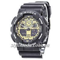 Часы наручные Casio G-Shock GA-100 Black-Gold (реплика)