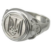 Серебряный перстень Герб Украины