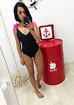 """Цельный женский купальник """"NINELLE DUO"""" с контрастными рюшами (2 цвета), фото 3"""