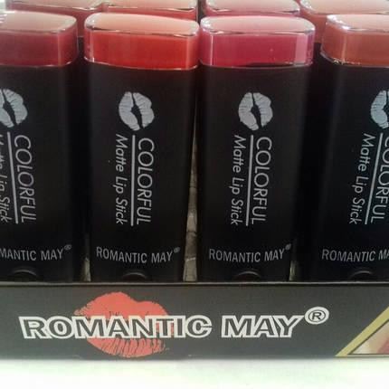 Упаковка матовой помады Romantic May colorful matte lipstick 24 шт/уп, фото 2