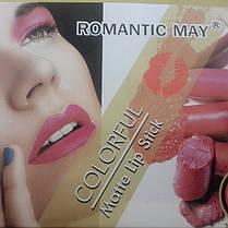 Упаковка матовой помады Romantic May colorful matte lipstick 24 шт/уп, фото 3