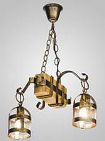 Люстра деревянная подвесная фонари AR-004284, фото 1