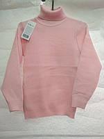 Теплый тонкий свитер -гольф синий и розовый  3-8 лет