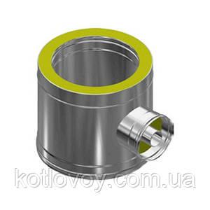 Ревизия для дымохода двухстенная термо (сэндвич) 400/460, 1.0 мм, нержавейка в оцинковке