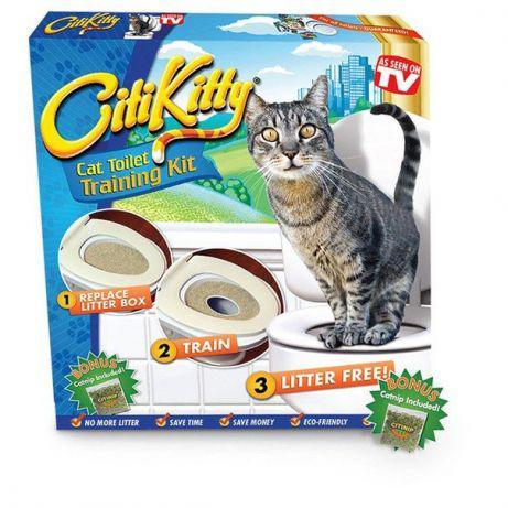 Сити Китти (Citi Kitty) приучение котов к унитазу