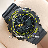 Часы наручные Casio G-Shock GA-100 Black-Yellow-Black (реплика)