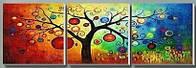 Раскраска по цифрам Дерево богатства (P037) 50 х 150 см, фото 1