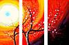 Раскраска по номерам Триптих. Яркое великолепие (N003) Триптих 80 х 150 см