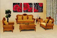 Раскраска по номерам MENGLEI Триптих. Красные розы (MT3013) Триптих 50 х 150 см, фото 1