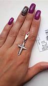 Крестик серебро 925 пробы 13н