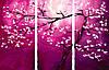 Раскраска по номерам Триптих. Цветение сливы (N002) Триптих 80 х 150 см