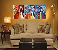 Картина по номерам MENGLEI Триптих. Буйство красок  (MT3058), фото 1