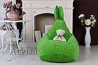 Детское Кресло груша 90х60 заец с ушами