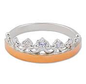 Серебряное кольцо с золотой пластиной 30502