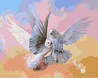 Картина по номерам DIY Babylon Влюбленные голубки худ Романов Роман (SW007) 40 х 50 см