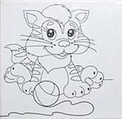 Набор для рисования  Котенок - Поиграем  (UMA472)