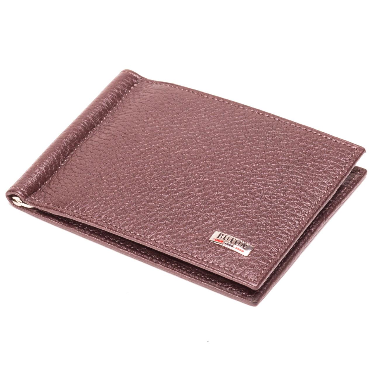 Кожаный зажим для денег коричневый  Butun 250-004-004