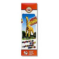 Пластилин мягкий Koh-i-noor Жираф 10 цв 200г (131504)