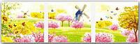 Картина по номерам MENGLEI Триптих. Весной (MT3071) Триптих 50 х 150 см, фото 1