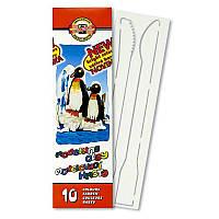 Пластилин мягкий Koh-i-noor Пингвины 10 цв 200г два стека (131506)