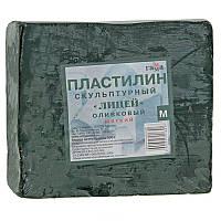 Пластилин скульптурный Гамма мягкий оливковый 500г (2.80.E050.004)