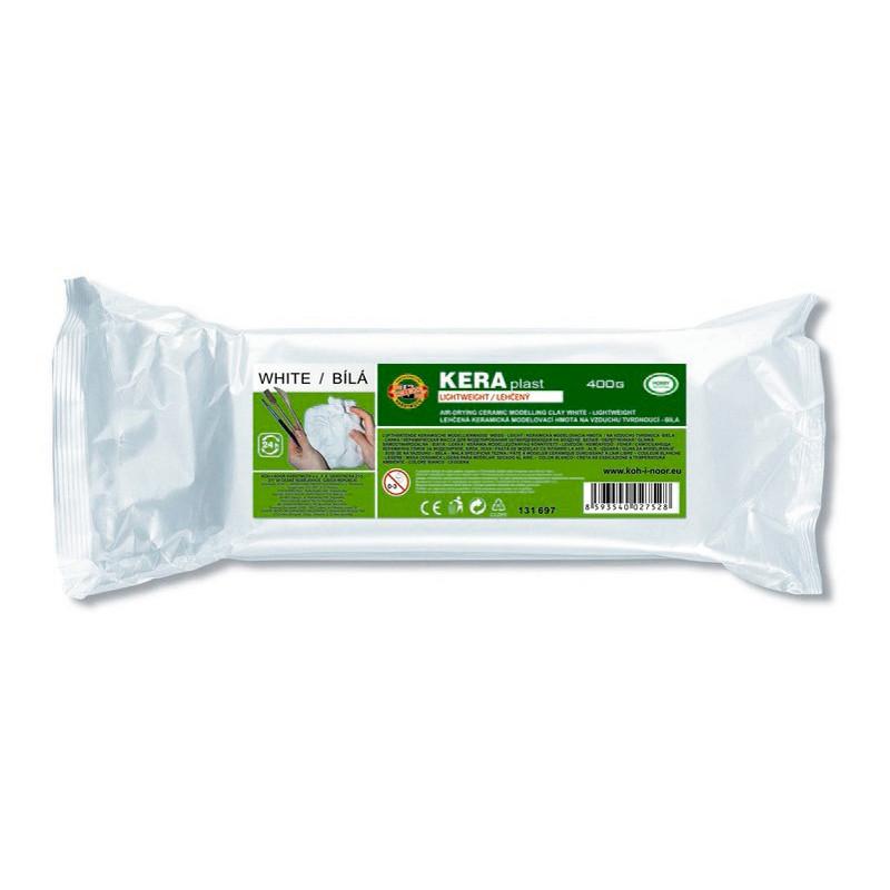 Масса для лепки Koh-i-noor пластилин Keraplast 400г легкий белый 131697