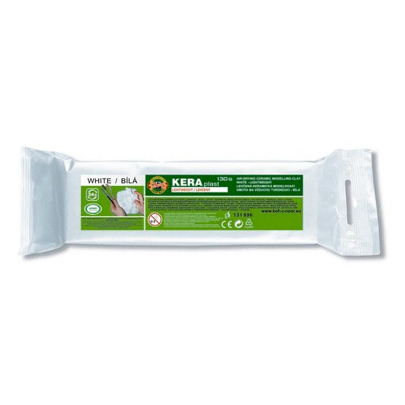 Масса для лепки Koh-i-noor пластилин Keraplast 130г белый 13169600000