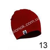 Трикотажна однотонна дитяча шапка Bape 44-54см Темно-червона