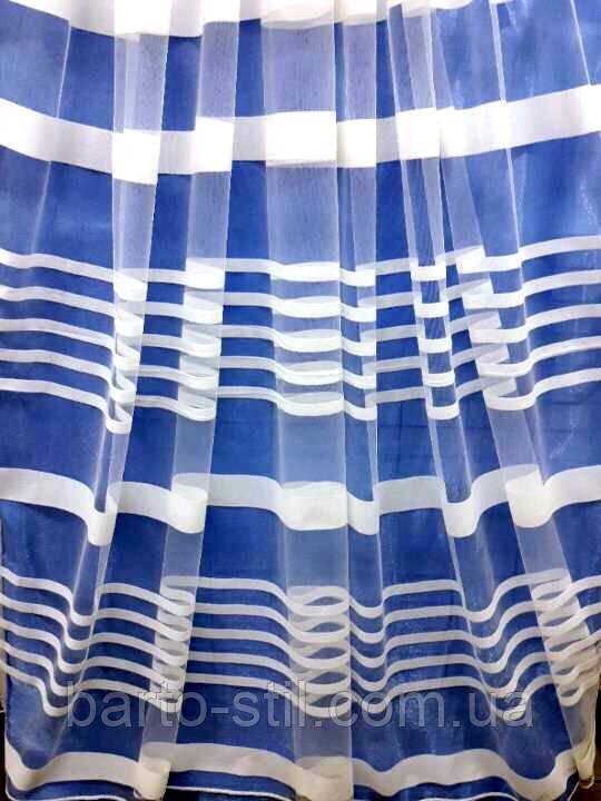 Тюль из фатина с горизонтальными полосками Турция Высота 3 м