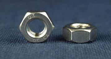 Гайка М1 шестигранная ГОСТ 5915-70, DIN 934 из нержавеющей стали А2, фото 2