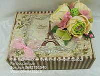 """Подарочная коробка со сладостями и кофем для учителя""""Эйфелева башня"""""""