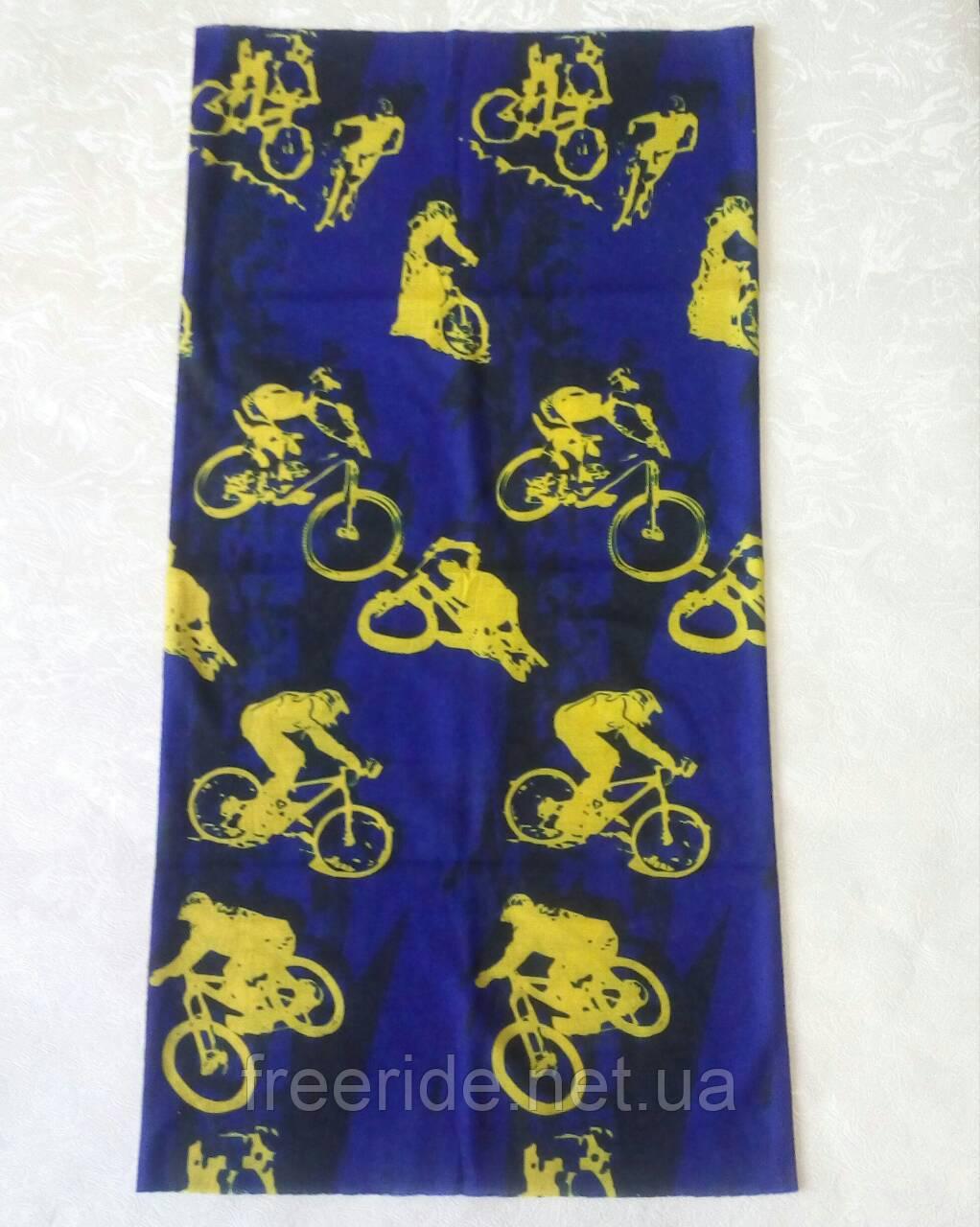 Летний бафф, buff, бесшовный шарф, бандана (#444)