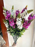 Цветы искусственные Люпины на ветке 3 штуки