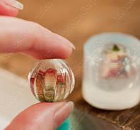 Силиконовый молд на ребристый усеченный шарик  (D-20мм)