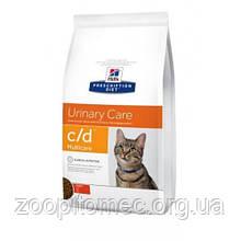 Лечебный корм для кошек HILL'S (Хиллс) PD Feline c/d лечение мочевыводящих путей (курица), 5 кг Акция!