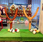 Аттракцион двойной Angry Birds на две рогатки