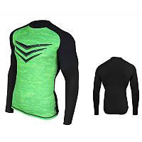 Рашгард (спортивный джемпер, кофта) Rashguard Smite LS, зеленая