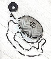Сумка на цепочке, в комплекте ремень. Цвет серебро, фото 1