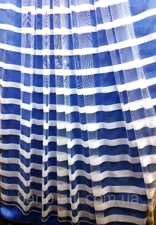 Тюль с горизонтальными полосками по всему полю Турция Высота 3 м