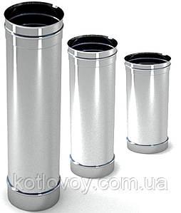 Труба для дымохода одностенная из нержавеющей стали  Aisi 321, 1 м., 400 мм, 0.8 мм