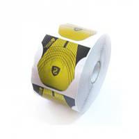 Формы Salon Professional SP-0405 золото широкие с черными ушками, 500 шт