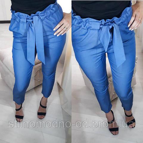 Стильные женские брюки лен