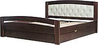 """Двуспальная деревянная кровать """"Верона-2"""" (высокое изножье)"""