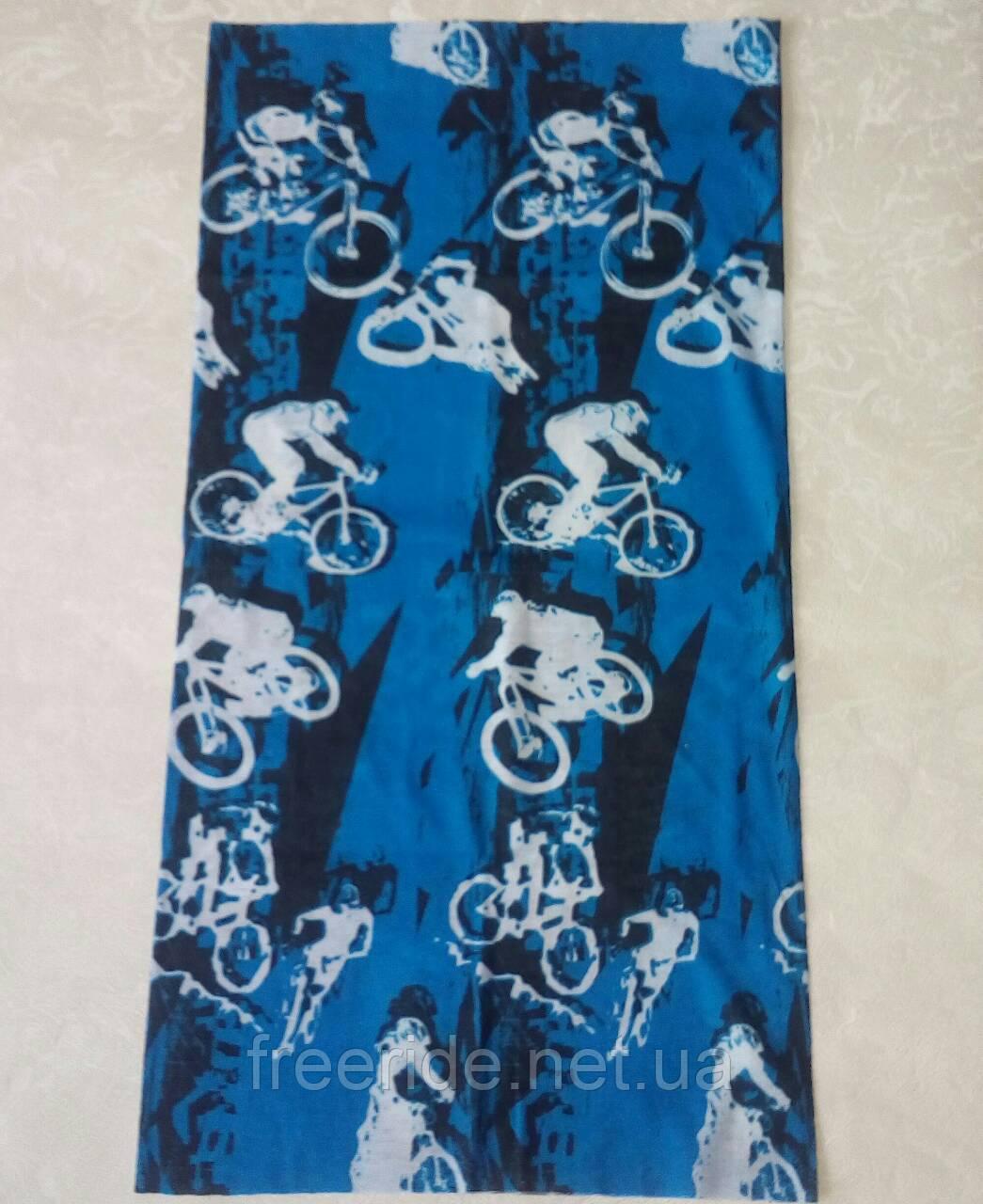 Летний бафф, buff, бесшовный шарф, повязка (#445)