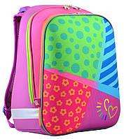 Ранець шкільний каркасний для дівчинки H-12 Bright colors, 38*29*15 , YES