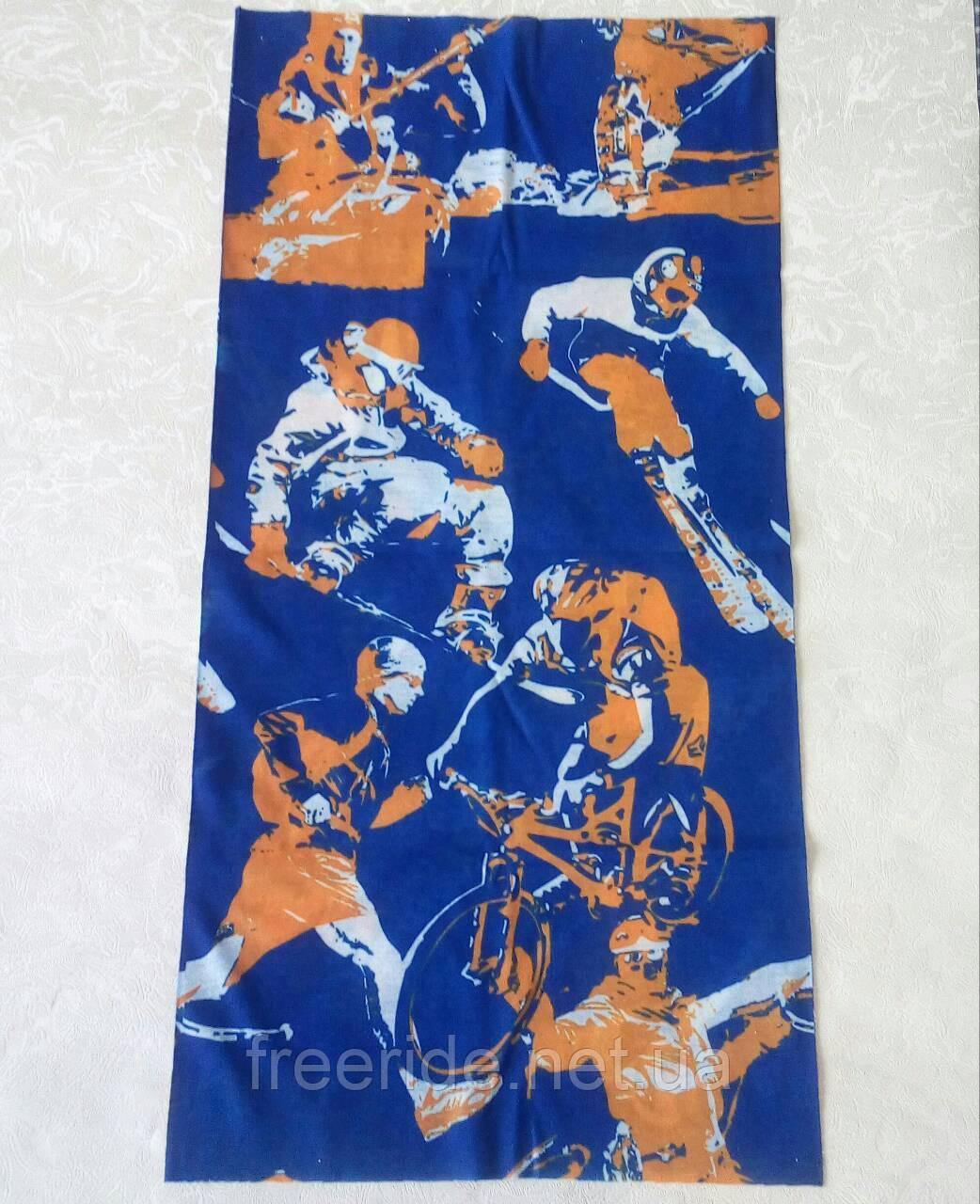 Летний бафф, buff, бесшовный шарф, повязка (#446)