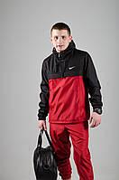 Анорак Nike, чоловічий червоно-чорний весняний, фото 1