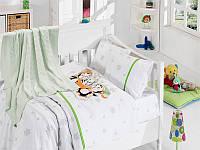 """Детское постельное белье в кроватку """"Penguins"""" Турция First choice"""