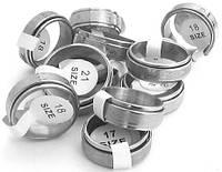 Кольцо сталь 316L крутящееся с рисунком под серебро, разные размеры (упаковка 12 штук).