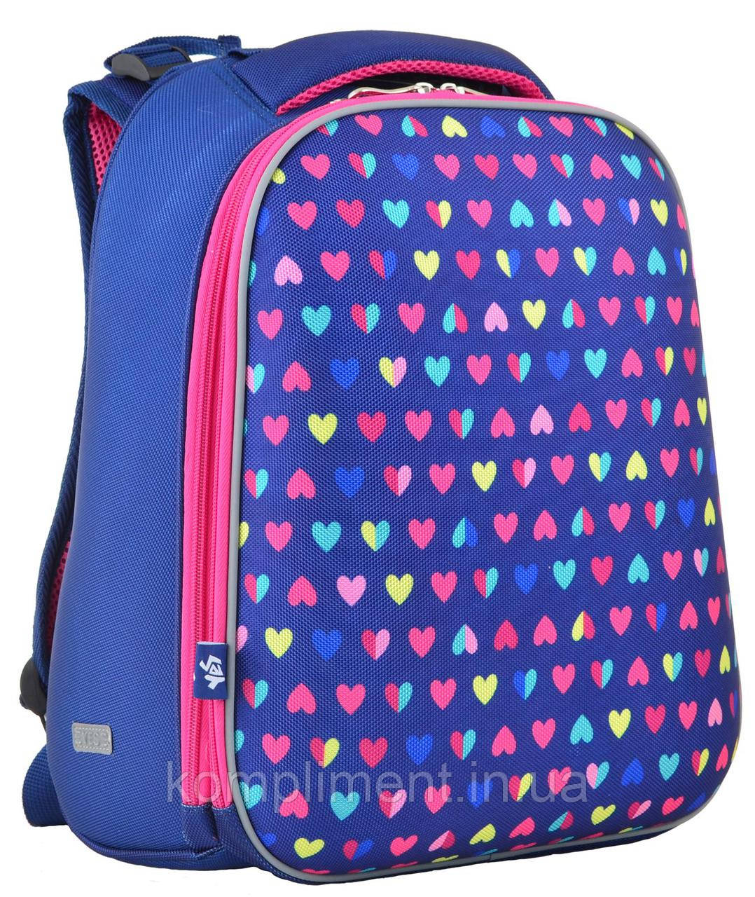 Ранец школьный жестко-каркасный  H-12 Hearts , 38*29*15 , YES